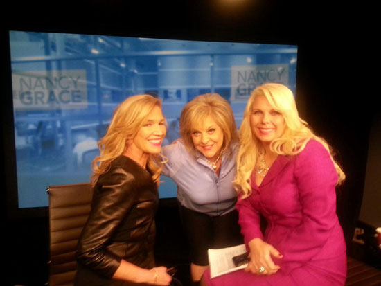 Anne Bremner with Nancy Grace on Headline News